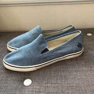 Ralph Lauren Janis Chambray Slip On Sneakers